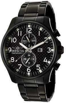 Invicta II Collection Black Ion-Plated Stainless Steel Men's Watch 0383