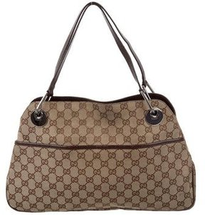 Gucci GG Eclipse Signature Tote - BROWN - STYLE