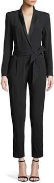 IRO Jesalo Long-Sleeve Belted Jumpsuit