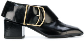 Jil Sander buckle detailed block heel pumps