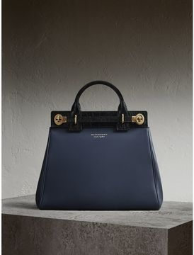 Burberry The DK88 Luggage Bag with Alligator - INK BLUE - STYLE