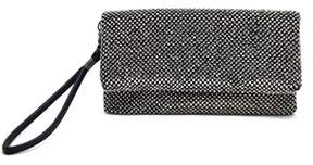 La Regale Fully Crystal Foldover Wristlet Clutch.