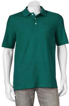 Croft & Barrow Men's Performance Pocket Pique Polo
