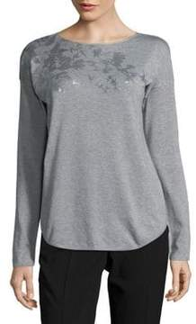 Context Stencil-Print Long-Sleeve Sweater