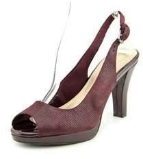 Giani Bernini Benette Women Open-toe Synthetic Burgundy Slingback Heel.
