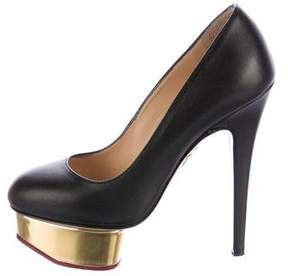 Charlotte Olympia Dolly Leather Pumps