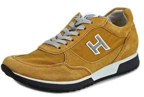 Hogan H198 N.mod.sport.h Flock Round Toe Suede Sneakers.