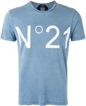 No.21 'No.21' print T-shirt