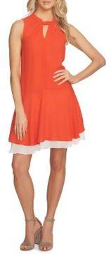 Cynthia Steffe Sleeveless Layered Hem A-Line Dress