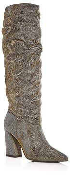 Kenneth Cole Women's Genevive Glitter Flared Block Heel Boots