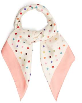 Valentino Polka-dot print silk-twill scarf