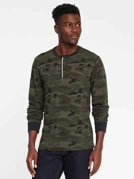 Old Navy Soft-Washed Built-In Flex Camo Thermal Henley for Men