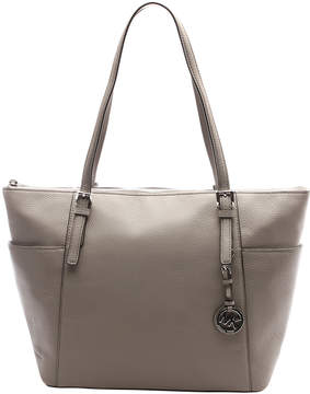 Michael Kors Pearl Gray Jet Set Leather Tote - PEARL - STYLE