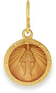 Alex and Ani Miraculous Medal Necklace Charm, Small
