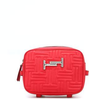 Tod's Double T Red Quilted Leather Camera Bag