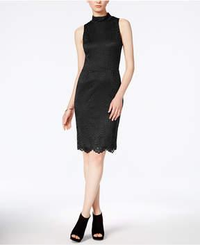 Bar III Lace Mock-Neck Sheath Dress, Created for Macy's