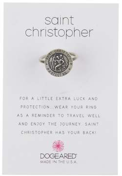 Dogeared Sterling Silver Saint Christopher Ring