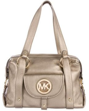 MICHAEL Michael Kors Metallic Leather Tote - GOLD - STYLE