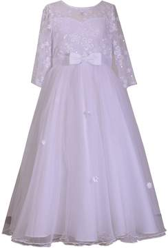Bonnie Jean Girls 7-16 & Plus Size Sequin Daisy 3/4-Sleeve Dress