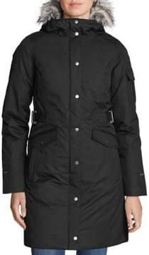 Eddie Bauer Superior Faux Fur-Trimmed Down Coat