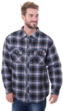 Dickies Men's Classic-Fit Plaid Sherpa-Lined Shirt Jacket