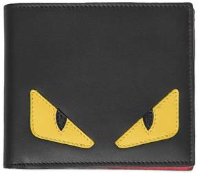 Fendi Monster Smooth Leather Classic Wallet