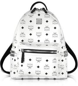MCM Women's White Faux Leather Backpack.