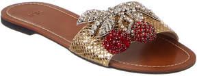 N°21 N 21 N21 Cherry Embellished Leather Slipper