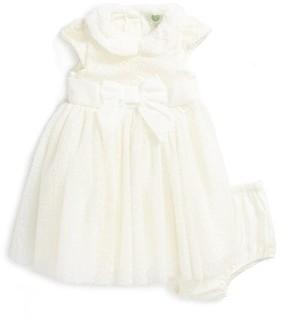 Little Me Infant Girl's Flocked Fit & Flare Dress
