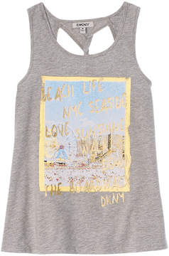 DKNY Girls' Sea Boardwalk Tank