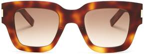 Saint Laurent Rectangle-frame acetate sunglasses
