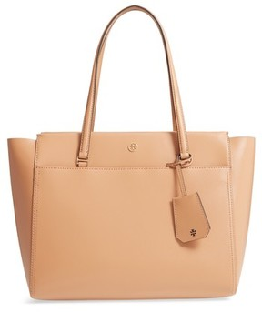 Tory Burch Parker Leather Tote - Beige