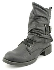 Blowfish Kaution Women Round Toe Synthetic Black Ankle Boot.