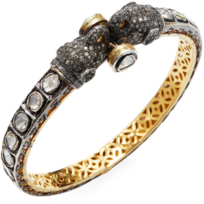 Amrapali Women's 14K Yellow Gold & 6.50 Total Ct. Diamond Elephant Bangle Bracelet