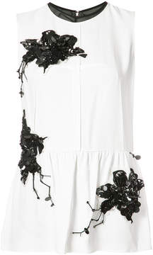 Derek Lam Sleeveless Top with Lily Embroidery
