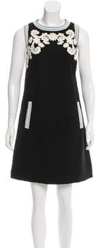 Andrew Gn Embroidered Tweed Dress
