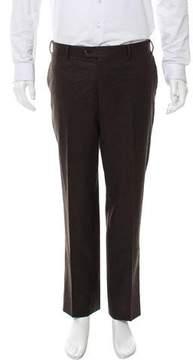 Corneliani Flat Front Virgin Wool Pants