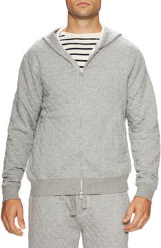 Jachs Men's Full Zip Quilted Hooded Sweatshirt