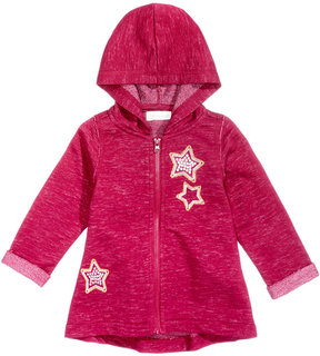 First Impressions Marled Stars Zip-Up Hoodie, Baby Girls (0-24 months), Created for Macy's