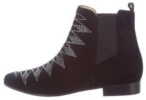 IRO Embellished Suede Ankle Boots