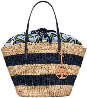 Tory Burch STRIPED STRAW TOTE - STRAW - STYLE