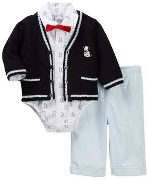 Little Me Puppy Cardigan Set (Baby Boys)