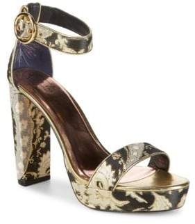 Ted Baker Jewell Metallic Ankle-Strap Sandals
