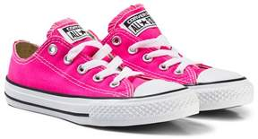 Converse Pink and White Kids Chuck Taylor All Star Trainers