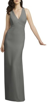 Dessy Collection Women's Crepe Gown