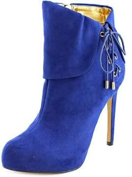 Thalia Sodi Ohlivia Women Round Toe Synthetic Blue Bootie