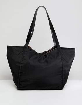 Asos DESIGN lightweight shopper bag with double compartments