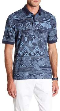 Robert Graham Koppen Printed Knit Classic Fit Polo