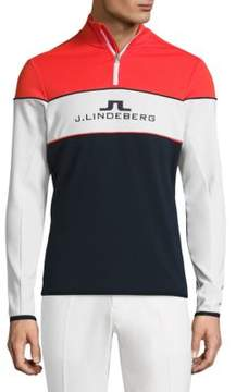 J. Lindeberg Golf Kimball Colorblocked Racing Jacket