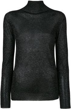 Blumarine glitter-effect knitted sweater